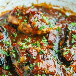 Balsamic Maple Dijon Chicken with Bacon Sauce