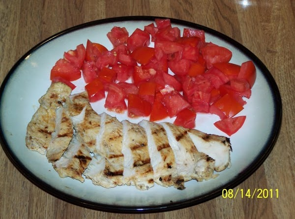 Remove from grill and allow to sit for a couple mins.,slice chicken and serve...