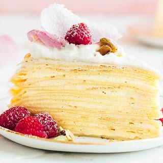 Crepe Cake with Rose Water Cream Recipe