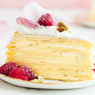 Crepe Cake with Rose Water Cream.