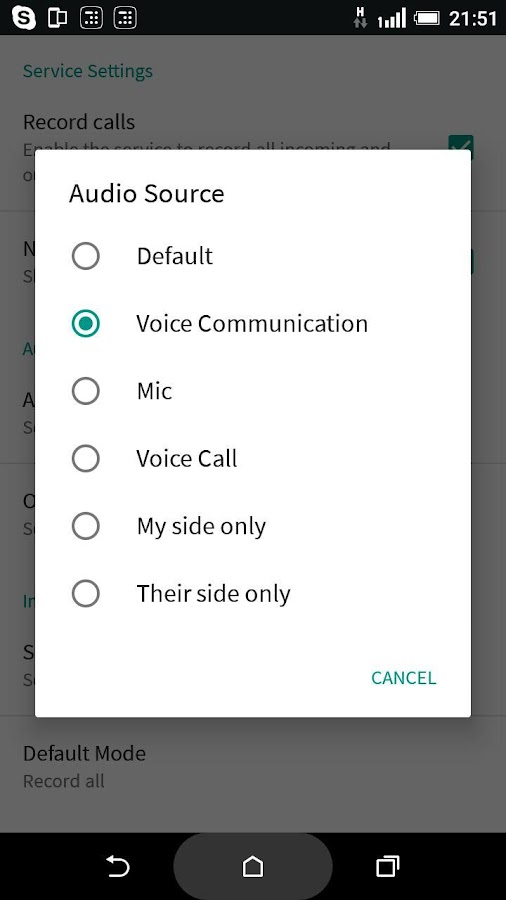 HD Call Recorder- screenshot