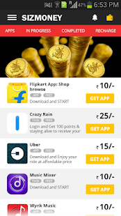 SIZMONEY- Earn Free Recharge, Data or Money- screenshot thumbnail