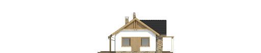 Raniuszek z garażem 1-st. bliźniak A-BL1 na paliwo stałe - Elewacja prawa