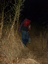 Photo: Early morning hiking in the dark as we made our way up to Bhatoba. Carrying the water was a pain!