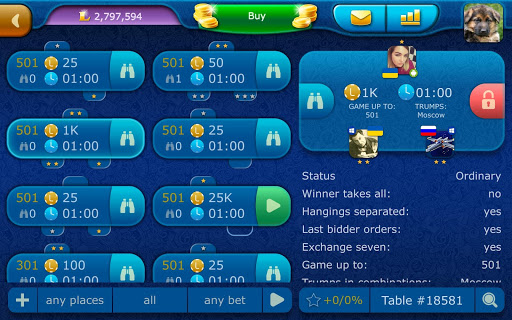 Clabber LiveGames - free online card game screenshots 20