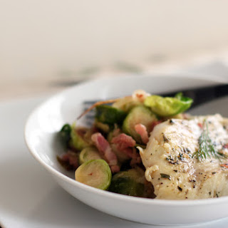 Marinated Cod with Brussel Sprouts