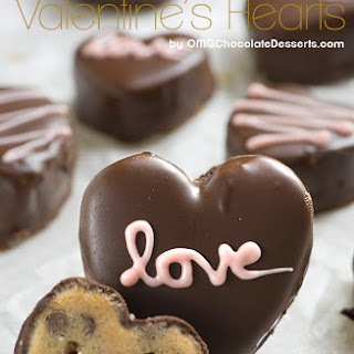 Chocolate Chip Cookie Dough Valentine's Hearts