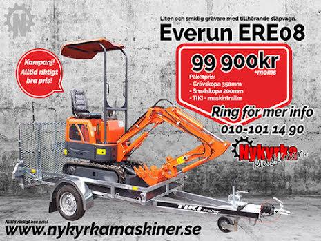 Everun ERE08 + släp (PAKETPRIS)