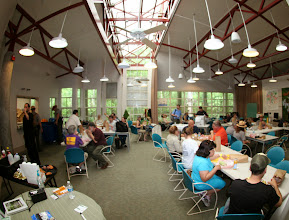 Photo: Cafeteriaand data center.