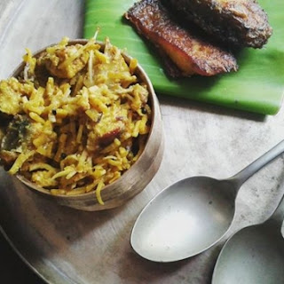 Indian carp cooked with fermented bamboo shoots (Maccha Karadi).