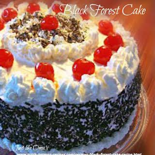 German Black Forest Cake.