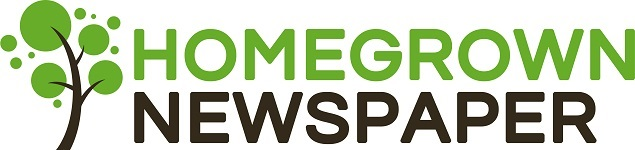 Green and Black LOGO for the Homegrown Newspaper