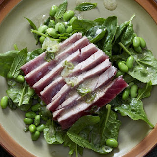 Seared Tuna Salad with Edamame.