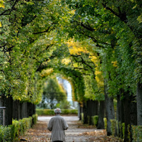 Alone by VAM Photography - City,  Street & Park  Historic Districts ( places, nature, garden, man, people, landscape )