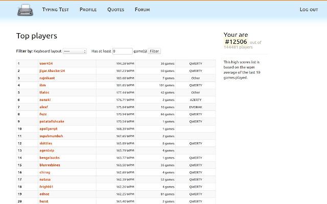 Typing Test - KeyHero - Chrome Web Store
