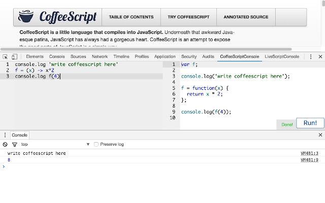 CoffeeScript Console 3