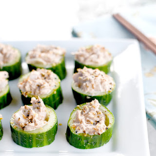 Asian-Inspired Tuna Salad in Cucumber Cups