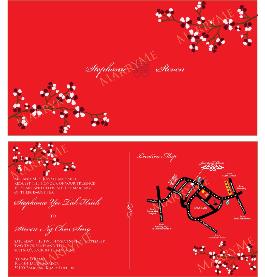 chinese wedding invitation - Asian Wedding Cards Uk