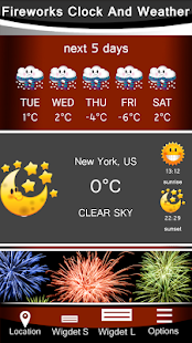 Fireworks Clock And Weather - náhled