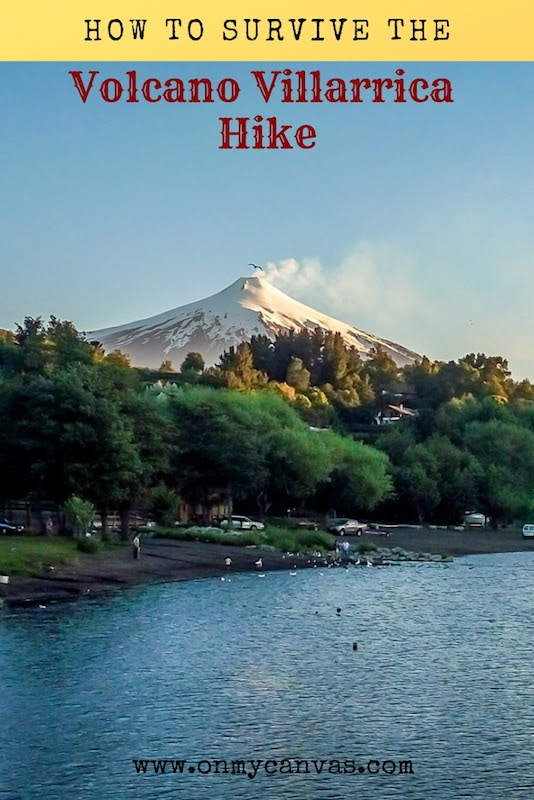 pinterest image for volcano villarrica in pucon chile