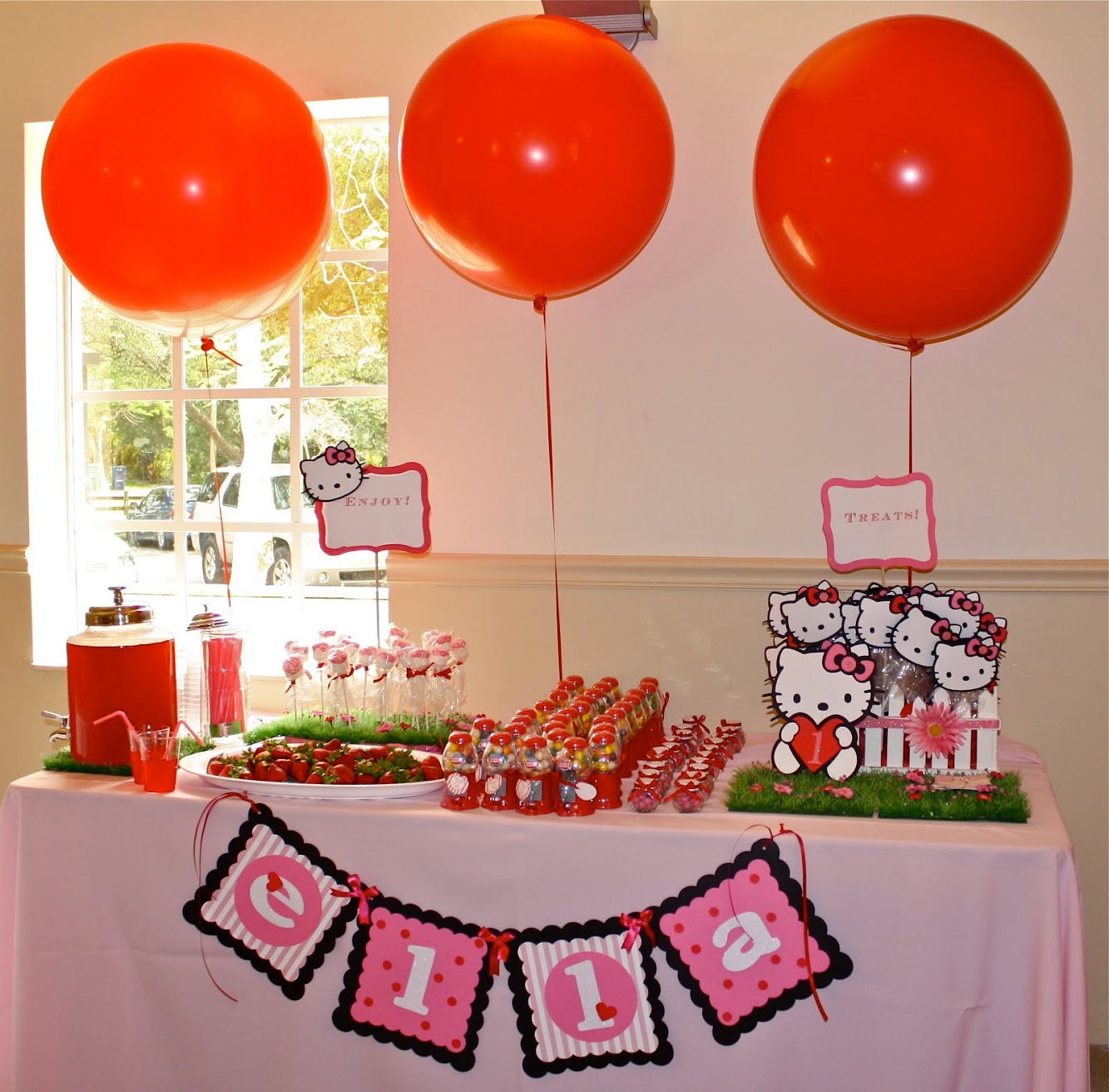 Pink & Red Hello Kitty Party