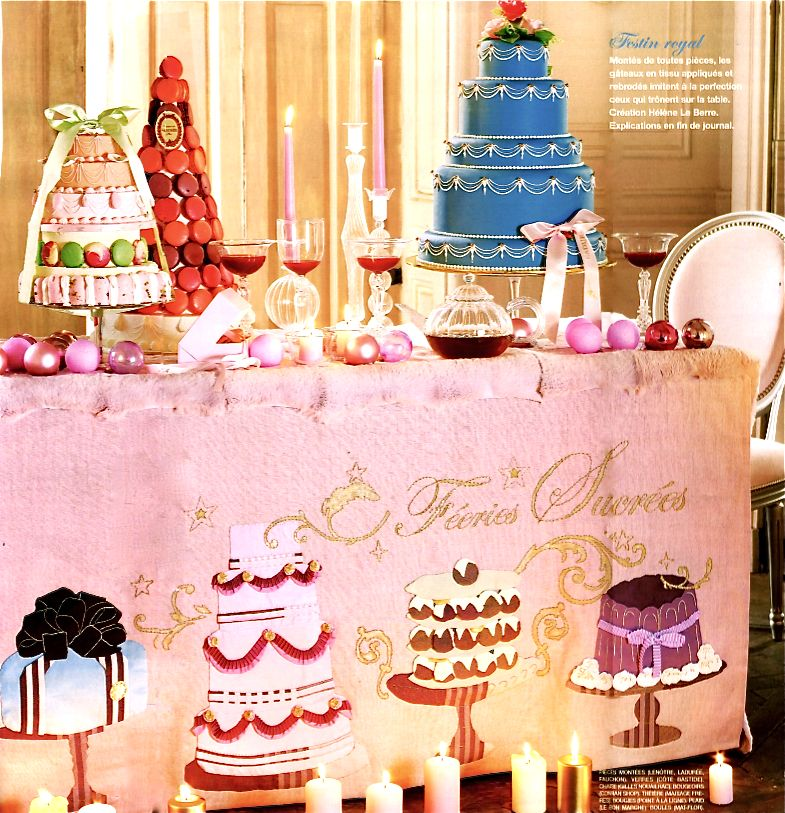 Parisian Christmas Dessert Table