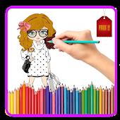 Tải Game Nice Fashion Girl Coloring Book