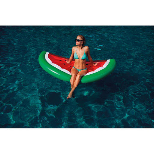 Large inflatable beach mattress in pineapple shape