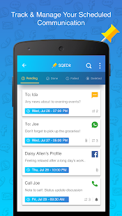 SQEDit Scheduling App: Schedule Whatsapp SMS Email- screenshot thumbnail