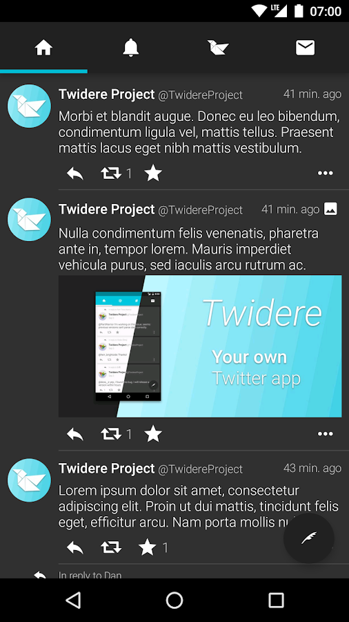 Twidere for Twitter- screenshot