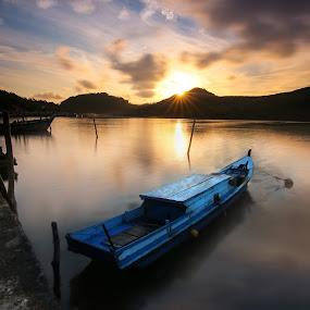 Morning by Muhammad Ikhsan - Transportation Boats ( sunrise, indonesia, landscape, morning )