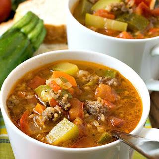 Zucchini Tomato Italian Sausage Soup Recipe