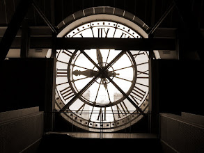 Photo: Behind the big clock at the Musée d'Orsay