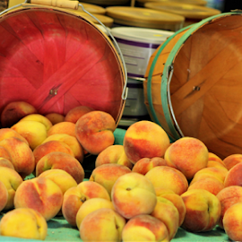 Farmer's Market by Leah Zisserson - Food & Drink Fruits & Vegetables ( market, baskets, peaches, farmers, virginia,  )