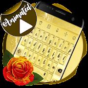 Golden Keyboard Animated icon