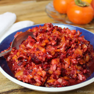 Raw Cranberry-Persimmon Relish