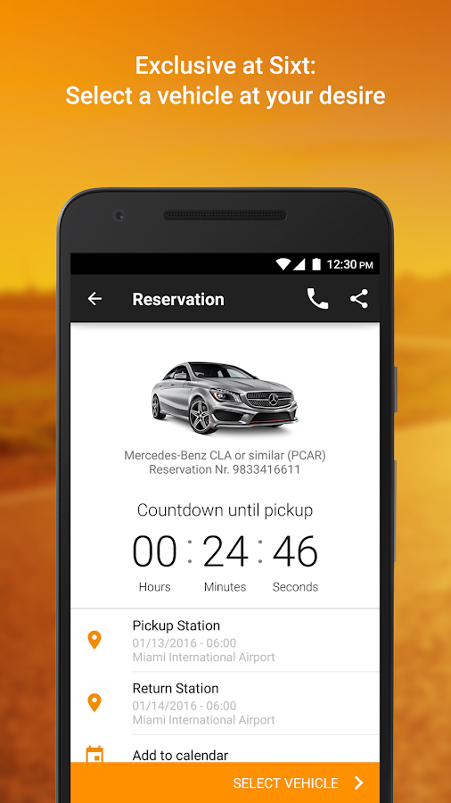 Screenshots of Sixt for Android