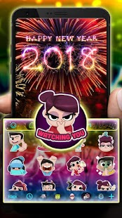 New Year 2018 Theme&Emoji Keyboard - náhled