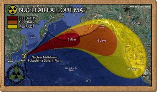 Nuclear fallout Map - Nuclear Meltdown Fukushima Faiichi Plant