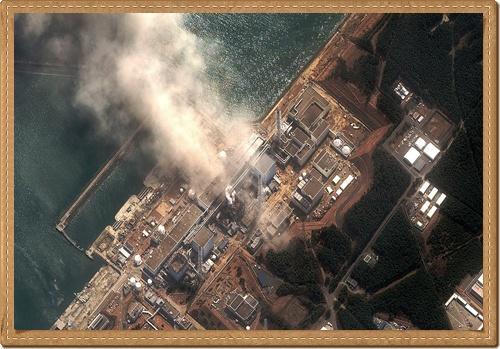 Sattelite image damage-Fukushima Dai Ichi Power Plant