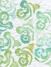 Photo: 3/18/12 Green apple peels. Foam print on deli paper.