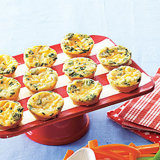 Cheesy Crustless Mini Quiches.