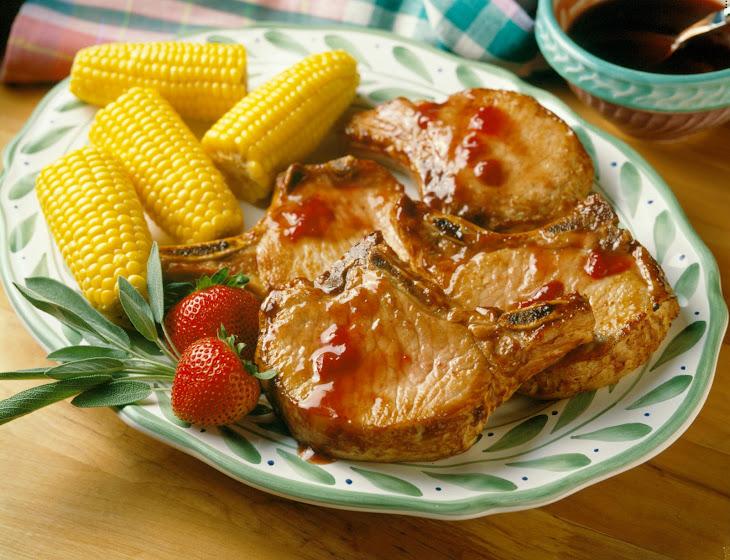 Very Berry Pork Chops Recipe