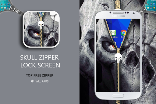 Skull Zipper Lock Screen