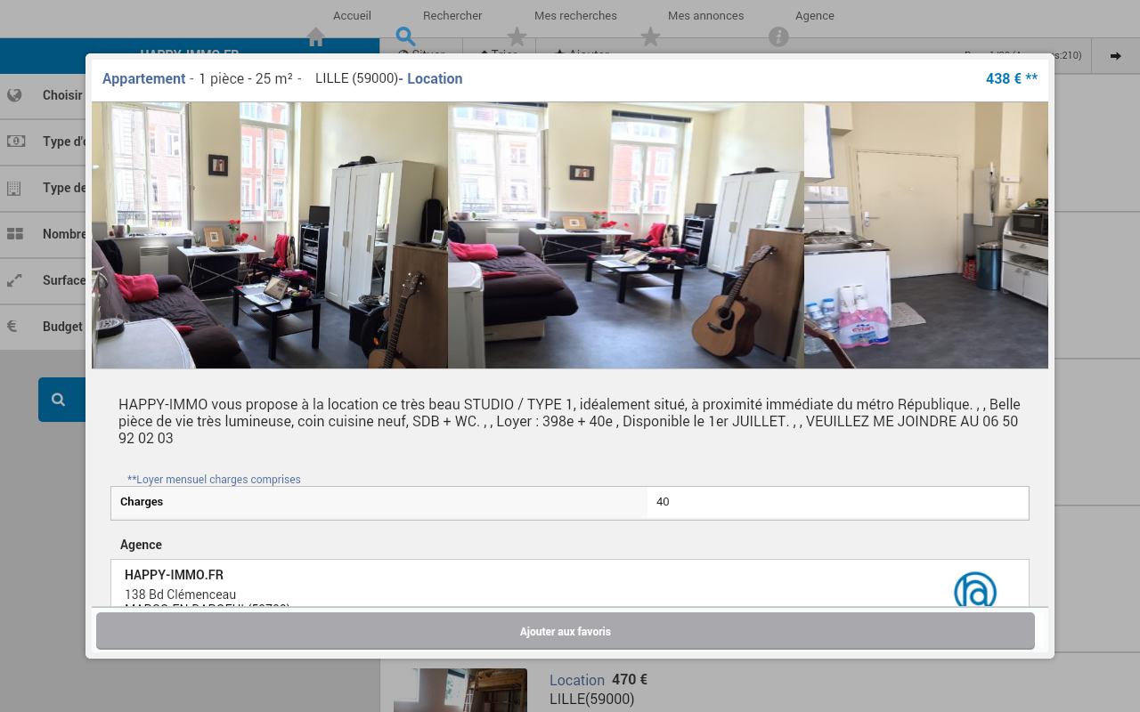 IMMOBILIER HAPPY-IMMO - LILLE- screenshot