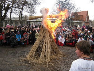 shrovetide - burning effigies of winter