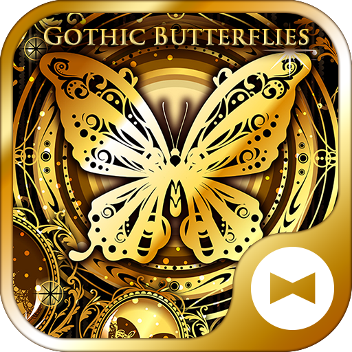 Gold Wallpaper Gothic Butterflies Theme Icon