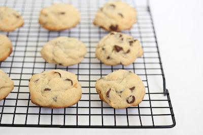 photo of Peanut butter Snickers Cookies on a baking rack