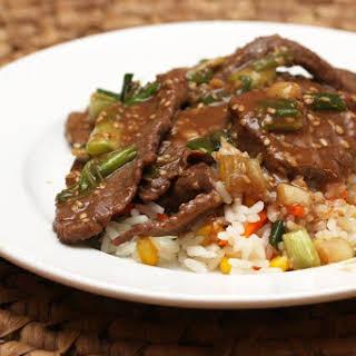 Crock Pot Teriyaki Steak.