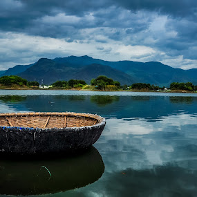 Lovely Nature by Gowri Shankar - Landscapes Waterscapes ( clouds, water, hills, trees, beauty, landscape )